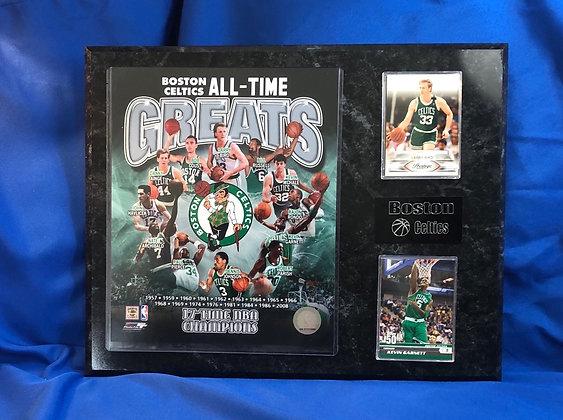 Boston Celtics all time Greats 12x15 sports plaque