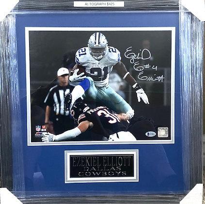 Ezekiel Elliott Cowboy signed frame 11x14 Beckett certified
