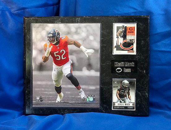 Khalil Mack Broncos  w Rookie 12x15 sports plaque