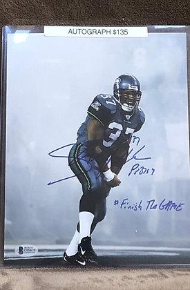 Shawn Alexander Seahawks signed 8x10 unframed Photo Beckett certifie
