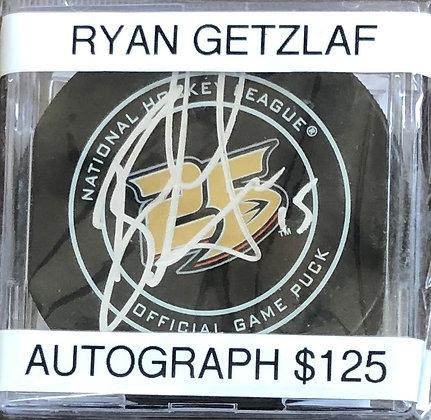Ryan Getzlaf Ducks signed Puck Fanatics certified
