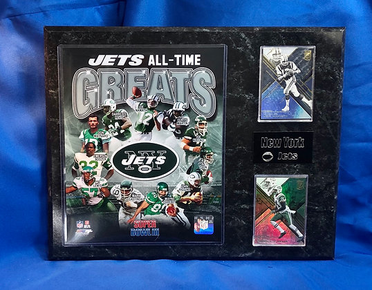 Jets All-Time Greats Namath 12x15 sports plaques