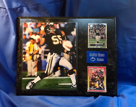 Junior Seau Chargers w Rookie  12x15 sports plaque