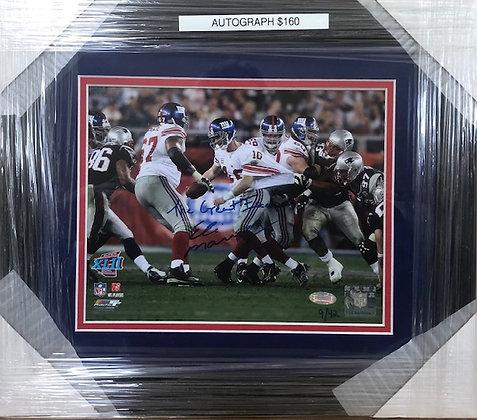 Eli Manning Giants signed custom frame 8x10 Steiner certified