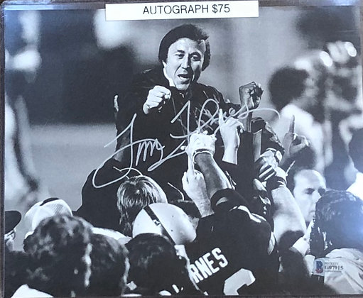 Tom Flores Raiders signed 8x10 unframed Photo Beckett certified