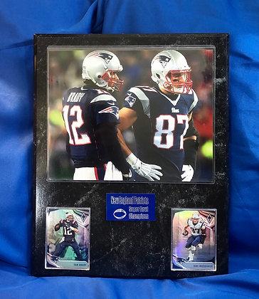 Tom Brady and Rob Gronkowski Patriots 12x15 sport plaques
