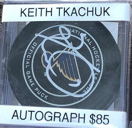 Keith Tkachuk Blues signed Puck Beckett certified