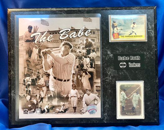 Babe Ruth Yankees 12x15 sports plaque