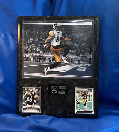Hines Ward Steelers 12x15 sports plaque