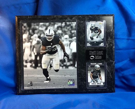Khalil Mack Raiders rookie 12x15 sports plaque