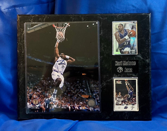 Karl Malone Jazz 12x15 sports plaque