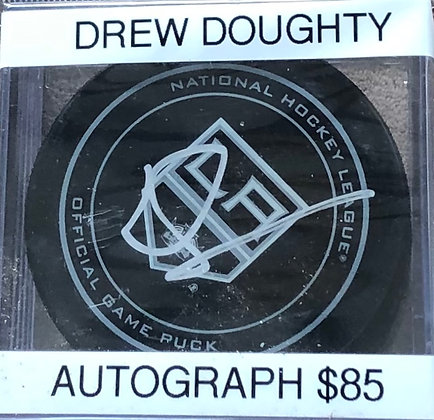 Drew Doughty Kings signed Puck Beckett HOLO only certified