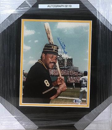 Willie Stargell Pirates signed custom frame 8x10 Beckett certified
