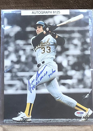Jose Canseco A's signed 8x10 unframed Photo PSA/DNA certified