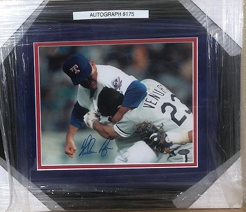 "Nolan Ryan ""Fight""  signed custom frame 8x10 Ryan Holo certified"
