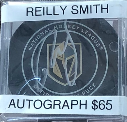 Reilly Smith Vegas Knights signed Puck Beckett certified
