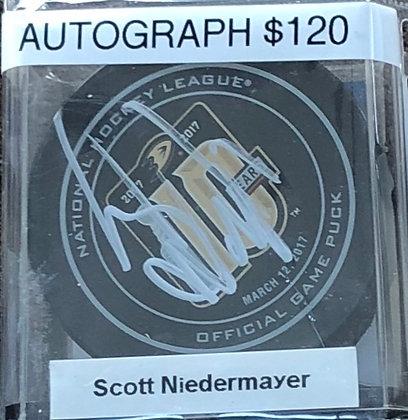 Scott Niedermayer Ducks signed Puck Beckett certified