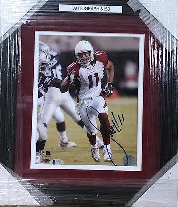 Larry Fitzgerald Cardinals signed custom frame 8x10  Beckett certified