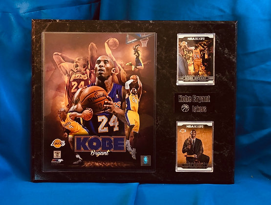 Kobe Bryant Lakers 12x15 sports plaque
