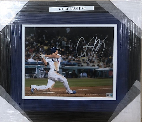 Corey Seager Dodgers signed custom frame 8x10 MLB certified