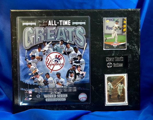 Yankees All-Time Greats 12x15 sports plaque