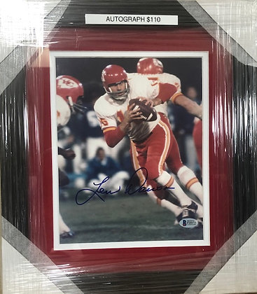 Lenny Dawson Chiefs signed custom frame 8x10  Beckett  certified