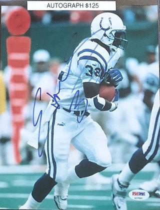 Edgerrin James Colts signed 8x10 unframed Photo PSA/DNA certified