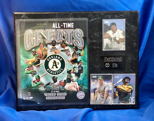 Oakland A's All-Time Greats 12x15 sports plaque