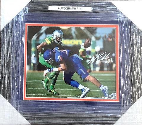 Leighton Van Der Esch signed custom frame 8x10  HOLO  certified