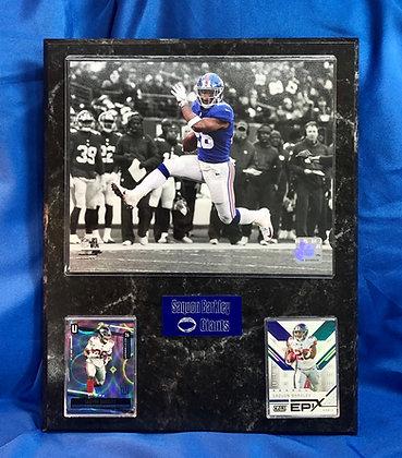 Saquon Barkley Giants 12x15 sports plaque