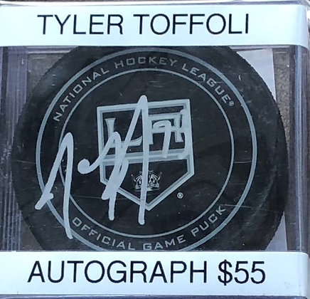 Tyler Toffoli Kings signed Puck PSA/DNA certified