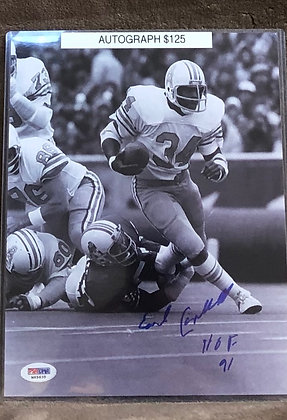 Earl Campbell Oilers signed 8x10 unframed Photo PSA/DNA certified