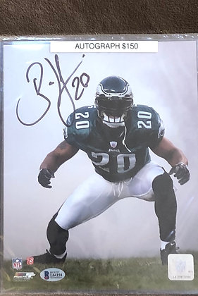 Brian Dawkins Eagles signed 8x10 unframed Photo Beckett certified