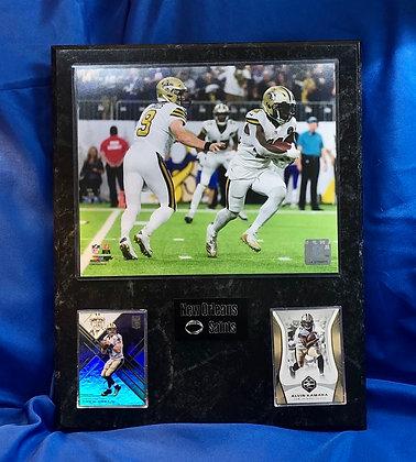Drew Brees & Alvin Kamara Saints 12x15 sports plaque