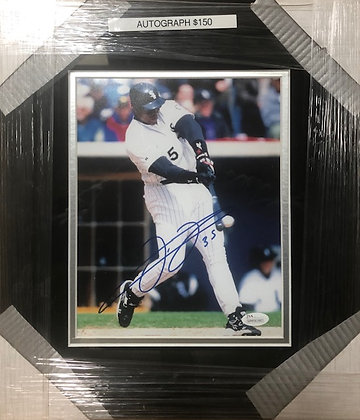 Frank Thomas White Sox signed custom frame 8x10 JSA certified