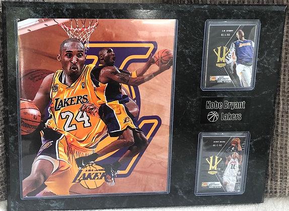 Kobe  Bryant 12x15 sports plaques Lakers
