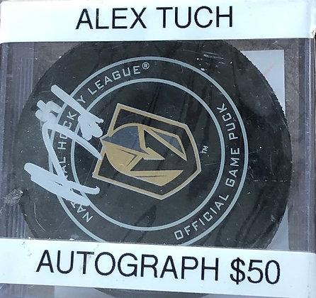 Alex Tuch Vegas Knights signed Puck Beckett certified