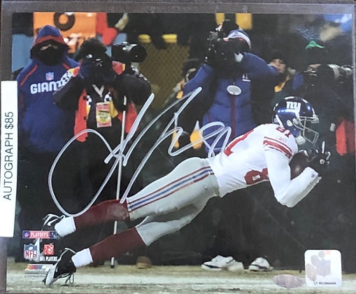 Amari Toomer Giants signed 8x10 unframed Photo Mounted Memories certified