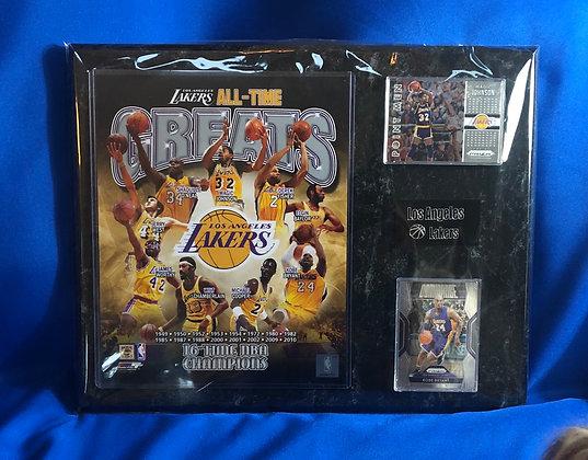 Lakers Greats 12x15 sports plaque Kobe magic