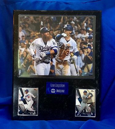 Bellinger & Turner Dodgers 12x15 sports plaque