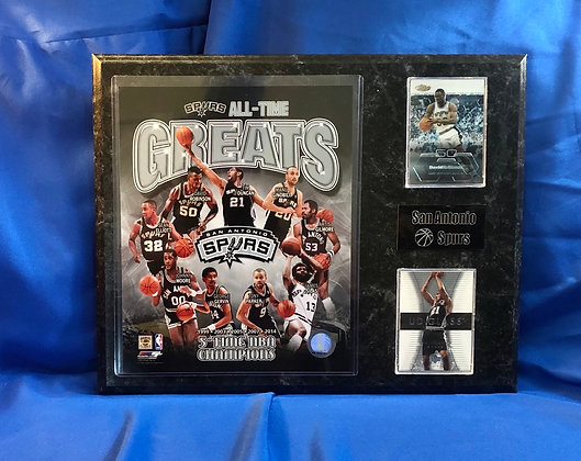 San Antonio Spurs All-time Greats 12x15 sports plaque