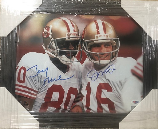 Rice & Montana 49ers signed frame 11x14 PSA/DNA certified