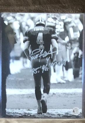 Brett Favre Packers signed 8x10 unframed Photo Favre HOLO certified