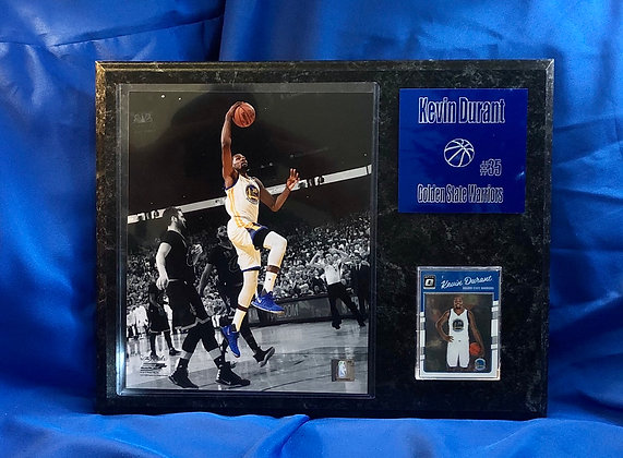 Kevin Durant Warriors 12x15 sports plaque