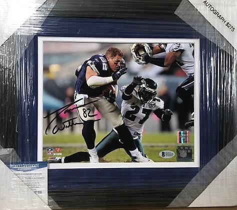 Jason Witten Cowboys signed custom frame 8x10  Beckett certified