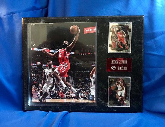 James Harden Rockets 12x15 sports plaque