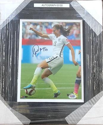 Alex Morgan Soccer signed custom frame 8x10  PSA/Dna certified