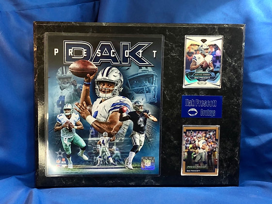 Dak Prescott Cowboys 12x15 sports plaque