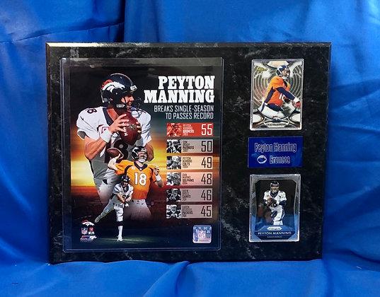 Peyton Manning Broncos 12x15 sports plaque
