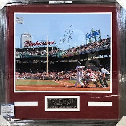 David Ortiz signed  Custom Framed 16x20 Beckett certified